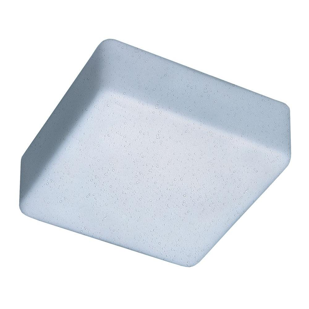 Illumine 1-Light Ceiling Mount Fixture White Raindrop Glass-DISCONTINUED