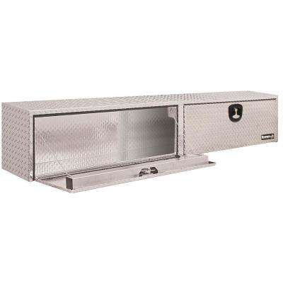 Diamond Tread Aluminum Topsider Truck Box with T-Handle Latch, 16 in. x 13 in. x 96 in.