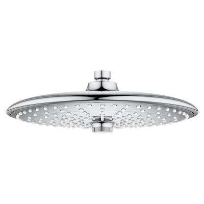 Vitalio Joy Rain 3-Spray 10 in. Fixed Shower Head in Chrome