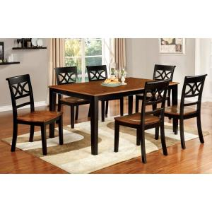 Torrington Black And Cherry Transitional Style Dining Table