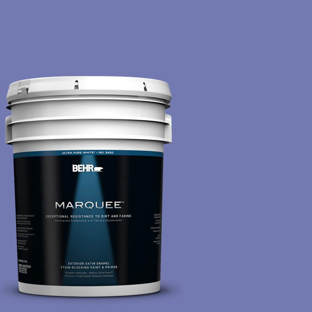 BEHR MARQUEE 5-gal. #620B-6 Magic Moment Satin Enamel Exterior Paint