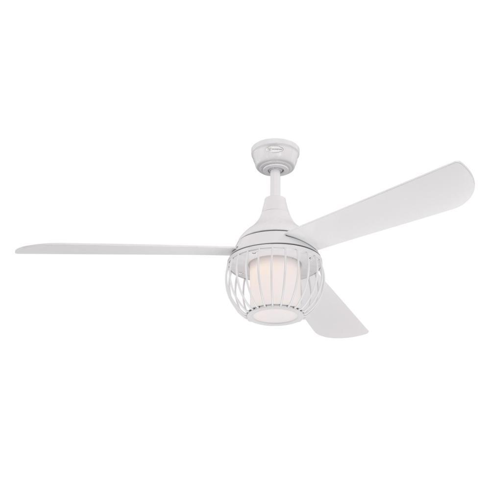 Westinghouse Graham 52 in. Integrated LED White Ceiling Fan with Light Kit and Remote Control