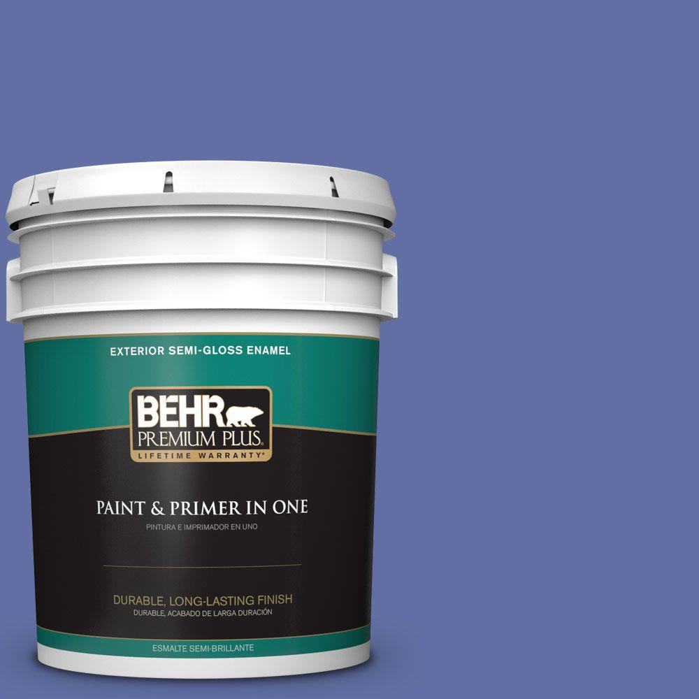 5-gal. #610B-6 Stained Glass Semi-Gloss Enamel Exterior Paint