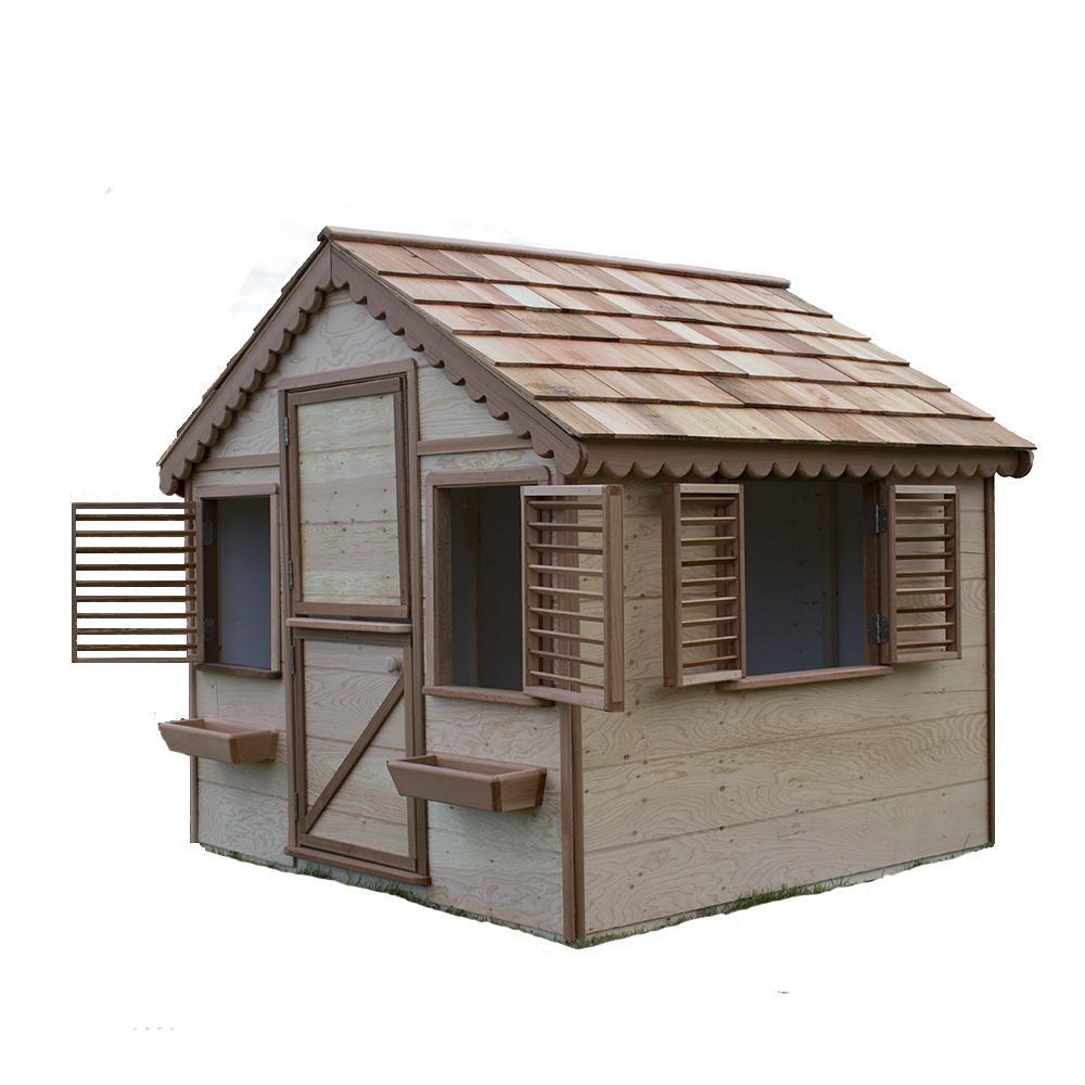 Canadian Playhouse Factory 6 ft. x 6 ft. Little Alexandra Cottage w/ Cedar Roof