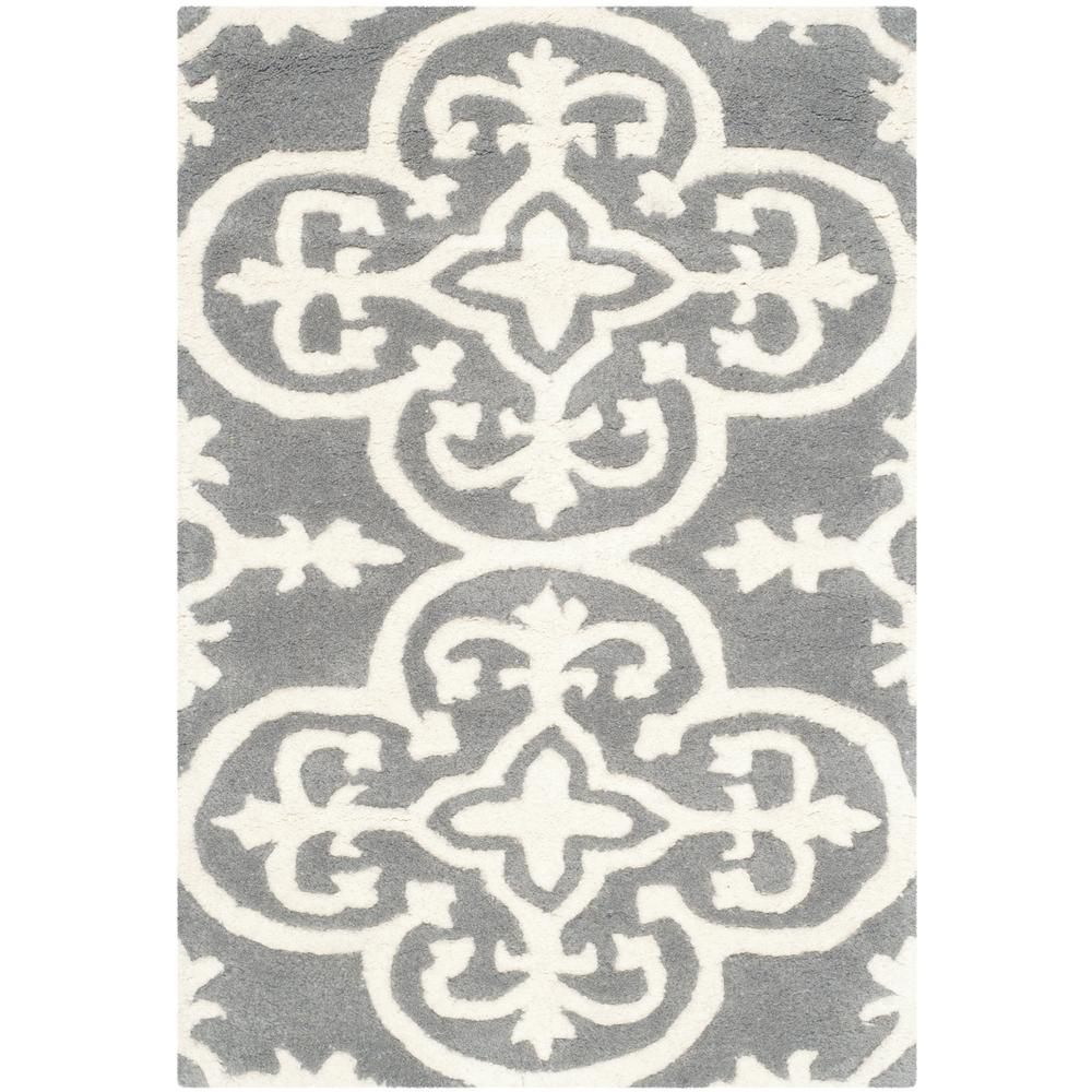 Chatham Dark Gray/Ivory 2 ft. x 3 ft. Area Rug