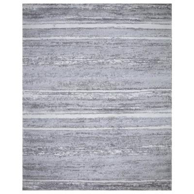 Barcas Gray Stripe 8 ft. x 10 ft. Area Rug