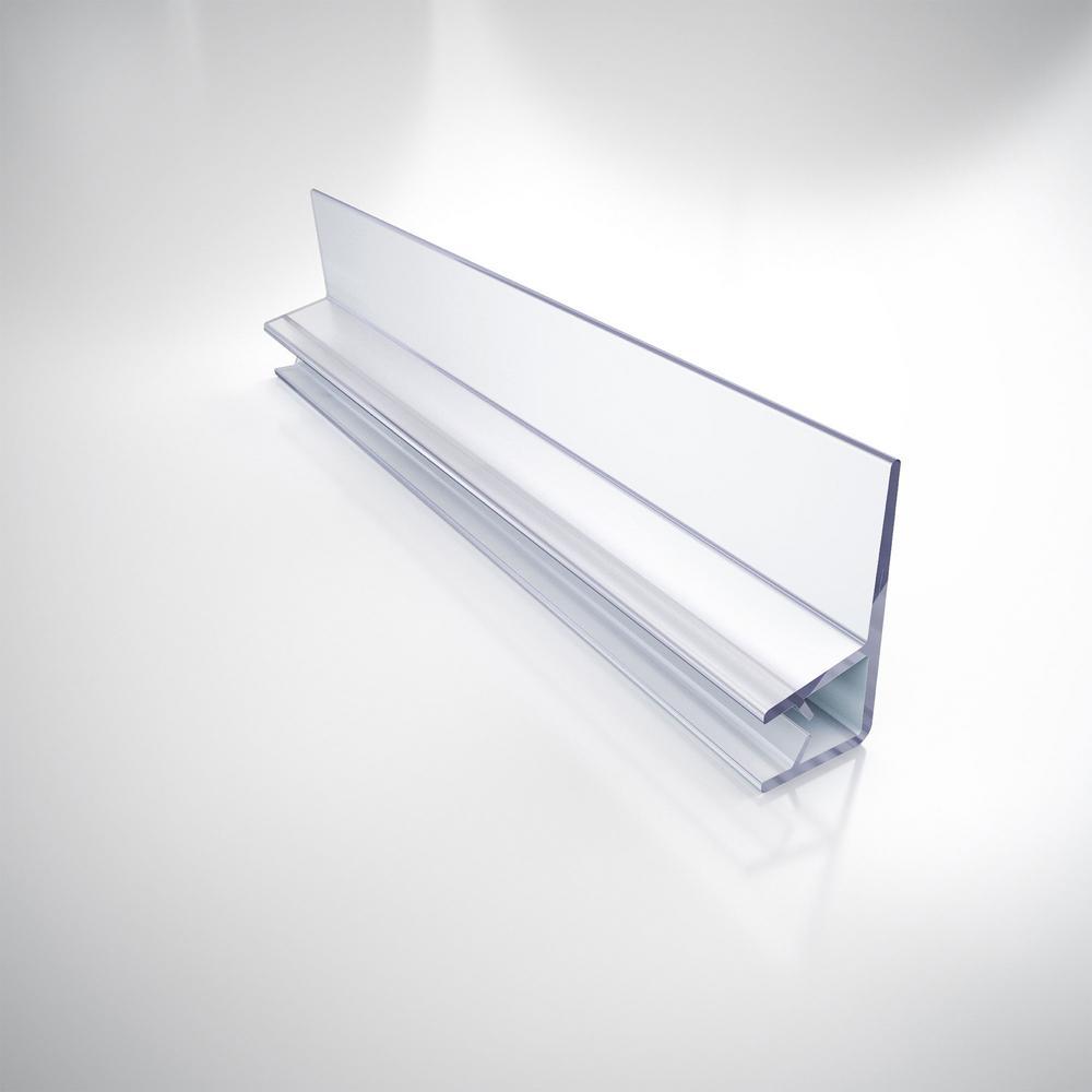 76 in. L Clear Vinyl Door Seal for 1/4 in. Glass Shower Door