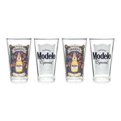 Modelo 16 oz. Mixing Glass DOTD (Set of 4)