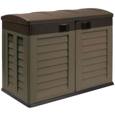 2 ft. 10 in. x 4 ft. 9.5 in. x 3 ft. 11 in. Mocha/Brown Willy Garden Shed