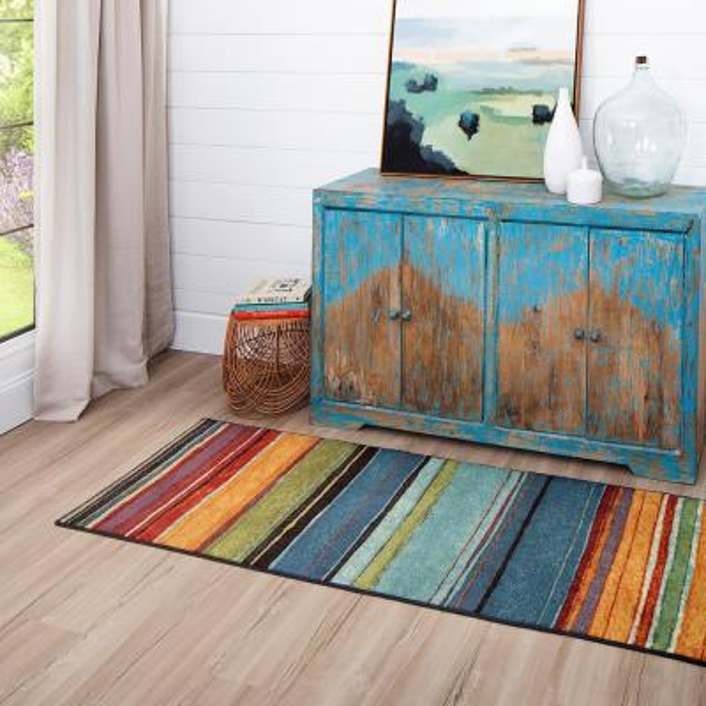 Rainbow Multi 2 ft. x 8 ft. Indoor Runner Rug