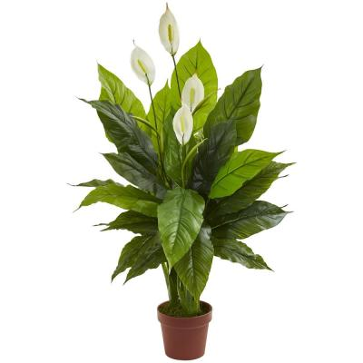 42 in. Spathiphyllum Artificial Plant (Real Touch)