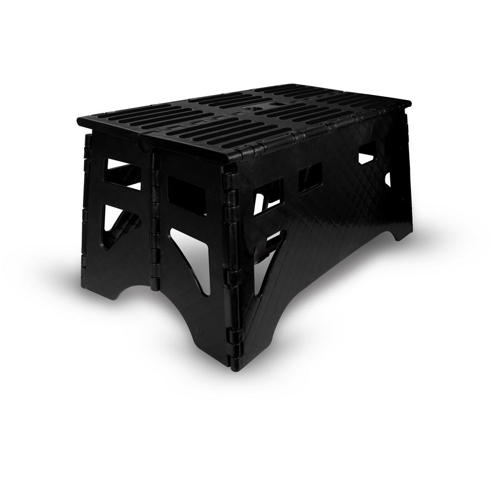Excellent Expace 24 In Plastic Folding Step Stool With 600 Lbs Load Capacity Andrewgaddart Wooden Chair Designs For Living Room Andrewgaddartcom