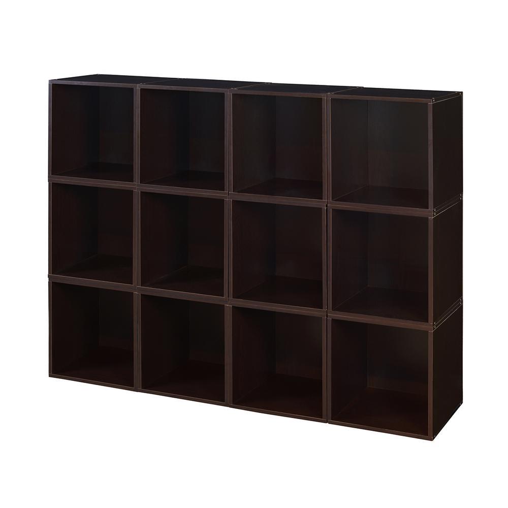 Cubo 52 in. x 39 in. Truffle Modular 12-Cube Organizer