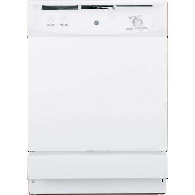 Front Control Under-the-Sink Dishwasher in White