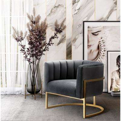 Magnolia Grey Velvet Chair