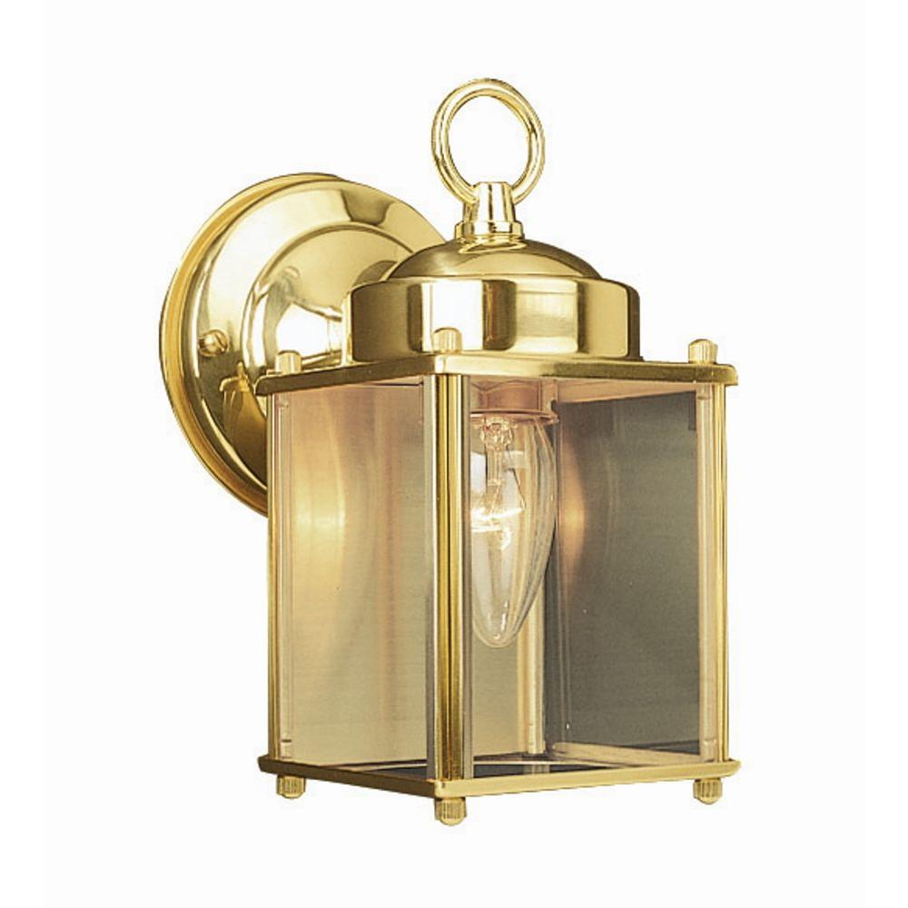 Design House Coach Polished Brass Outdoor Wall-Mount Downlight