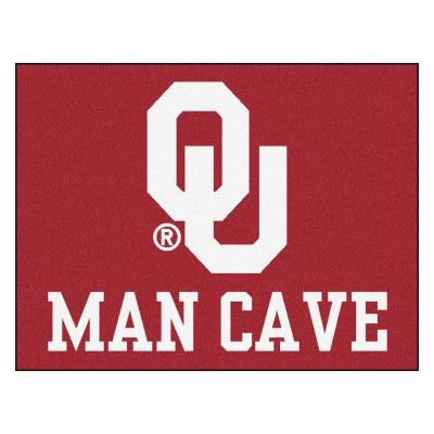 University of Oklahoma Red Man Cave 3 ft. x 4 ft. Area Rug