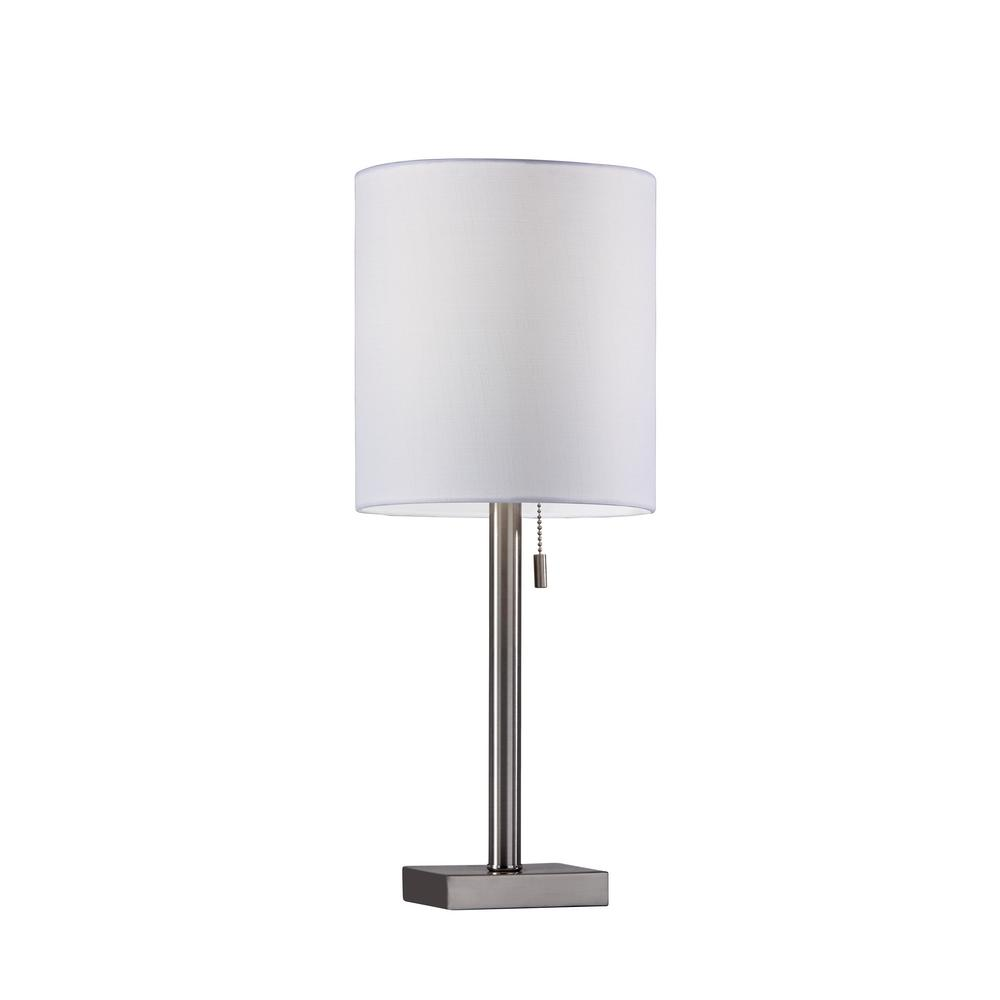 22 in brushed steel table lamp 1546 22 the home depot brushed steel table lamp aloadofball Choice Image