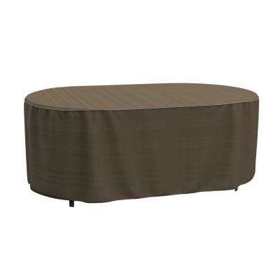 Rust-Oleum NeverWet Hillside Medium Black and Tan Oval Patio Table Cover