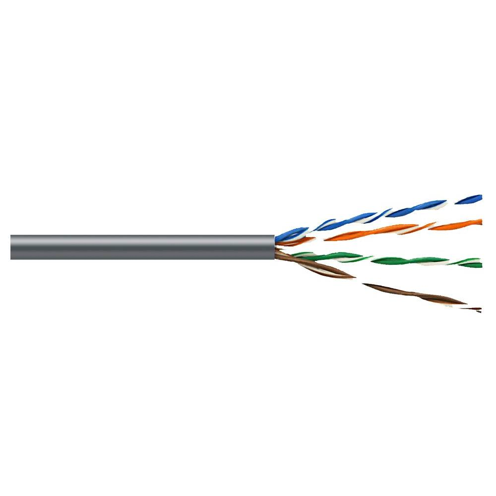 Syston Cable Technology Cat5E 1,000 ft. Gray 24-4 Riser Twisted Pair Cable