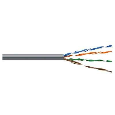 Cat5E 1,000 ft. Gray 24-4 Riser Twisted Pair Cable
