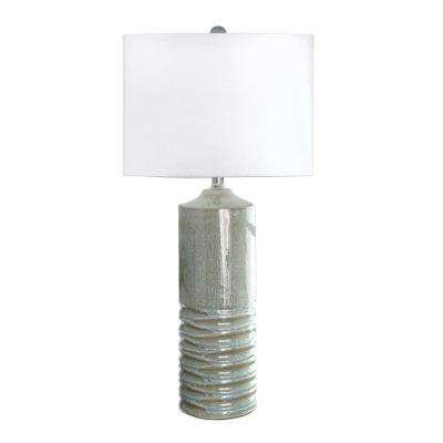 Garland 10 in. Blue Table Lamp
