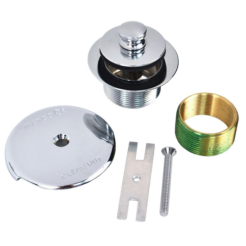 Watco 1.865 in. Overall Diameter x 11.5 Threads x 1.25 in. Push Pull Trim Kit in Chrome Plated