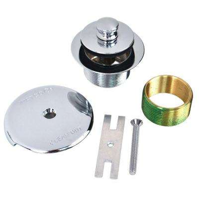 1.865 in. Overall Diameter x 11.5 Threads x 1.25 in. Push Pull Trim Kit in Chrome Plated