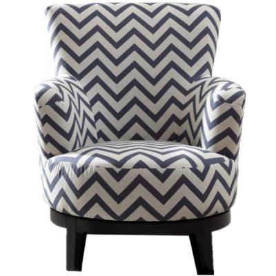 Swivel Multi-Color Accent Chair with Chevron Pattern
