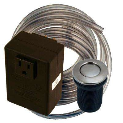 Disposal Air Switch and Single Outlet Control Box, Stainless Steel