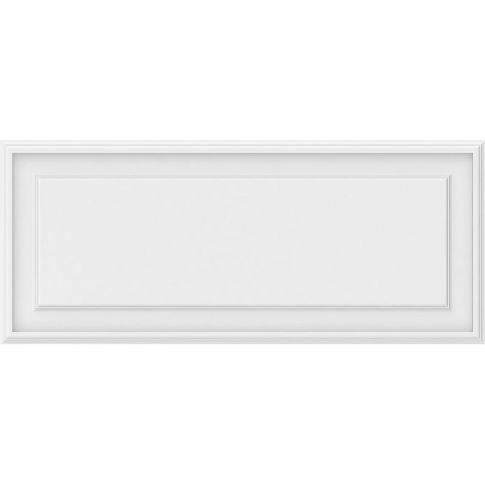 Ekena Millwork 5/8 in. x 3-1/6 ft. x 1-1/3 ft. Legacy Raised Panel White PVC Decorative Wall Panel