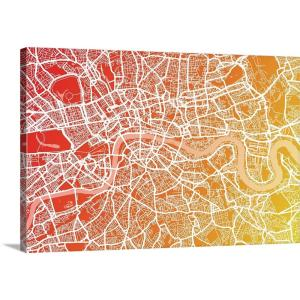 London In England Map.Greatbigcanvas London England Street Map Art Print Blend By