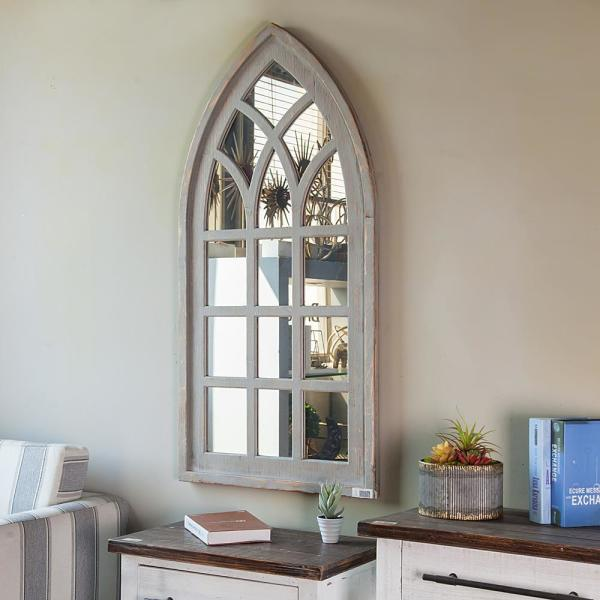 Cathedral Window Decorative Wall Mirror
