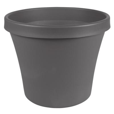 Terra 24 in. x 20.25 in. Charcoal Plastic Planter