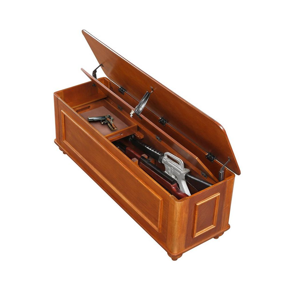 Outstanding American Furniture Classics 4 Gun Solid Wood Hope Chest Gun Storage In Brown Inzonedesignstudio Interior Chair Design Inzonedesignstudiocom