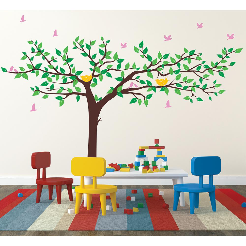 Pop Decors 133 In X 90 In Colorful Super Big Tree Removable Wall