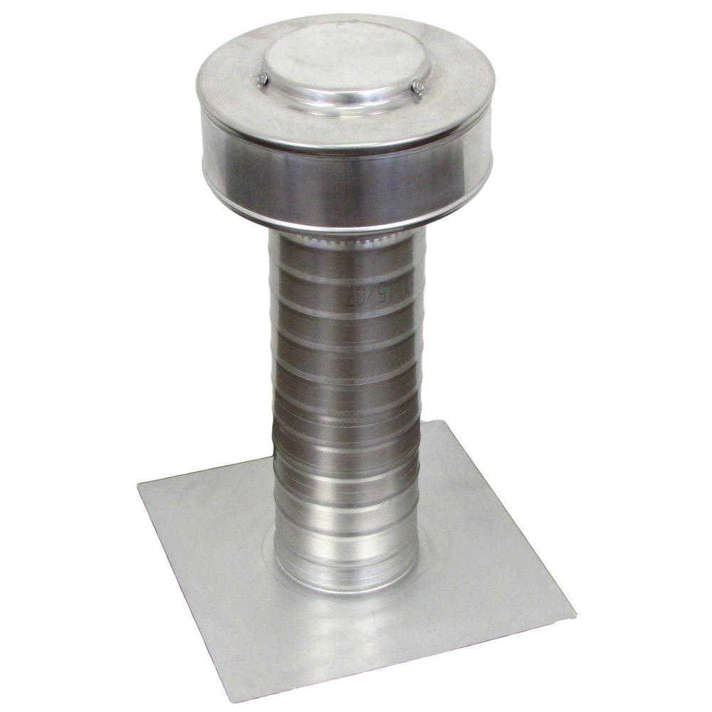 Active Ventilation 4 in. x 15 in. Aluminum Flat Roof Exhaust Static Vent in Mill Finish