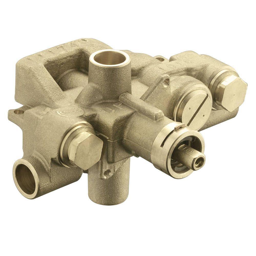 Moentrol Pressure-Balancing Volume-Control Tub and Shower Valve - 1 ...