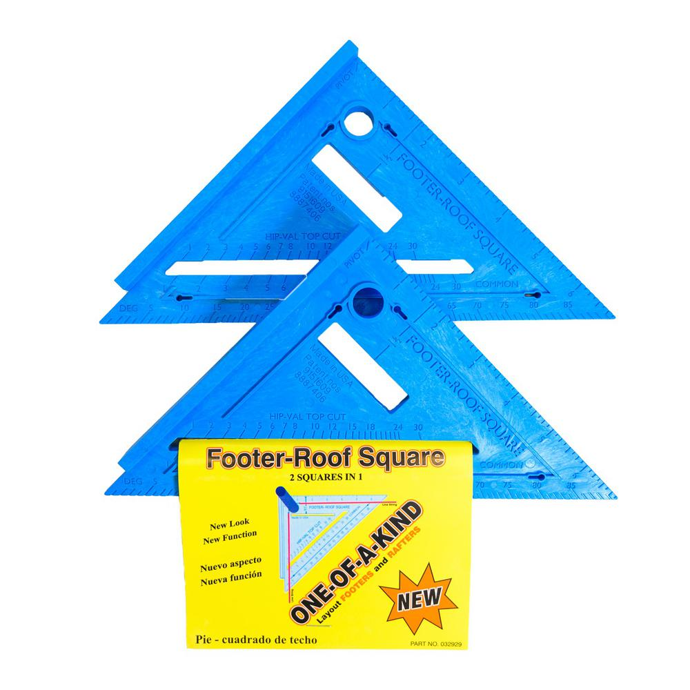 Varney Tools Varney Tools 2-in-1 Footer-Roof Rafter Square (Pack of 2)
