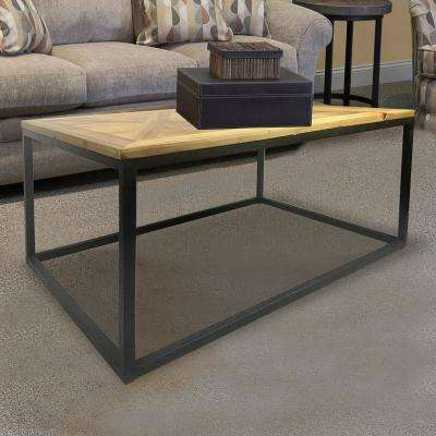 Industrial Reclaimed Wood Square Coffee Table