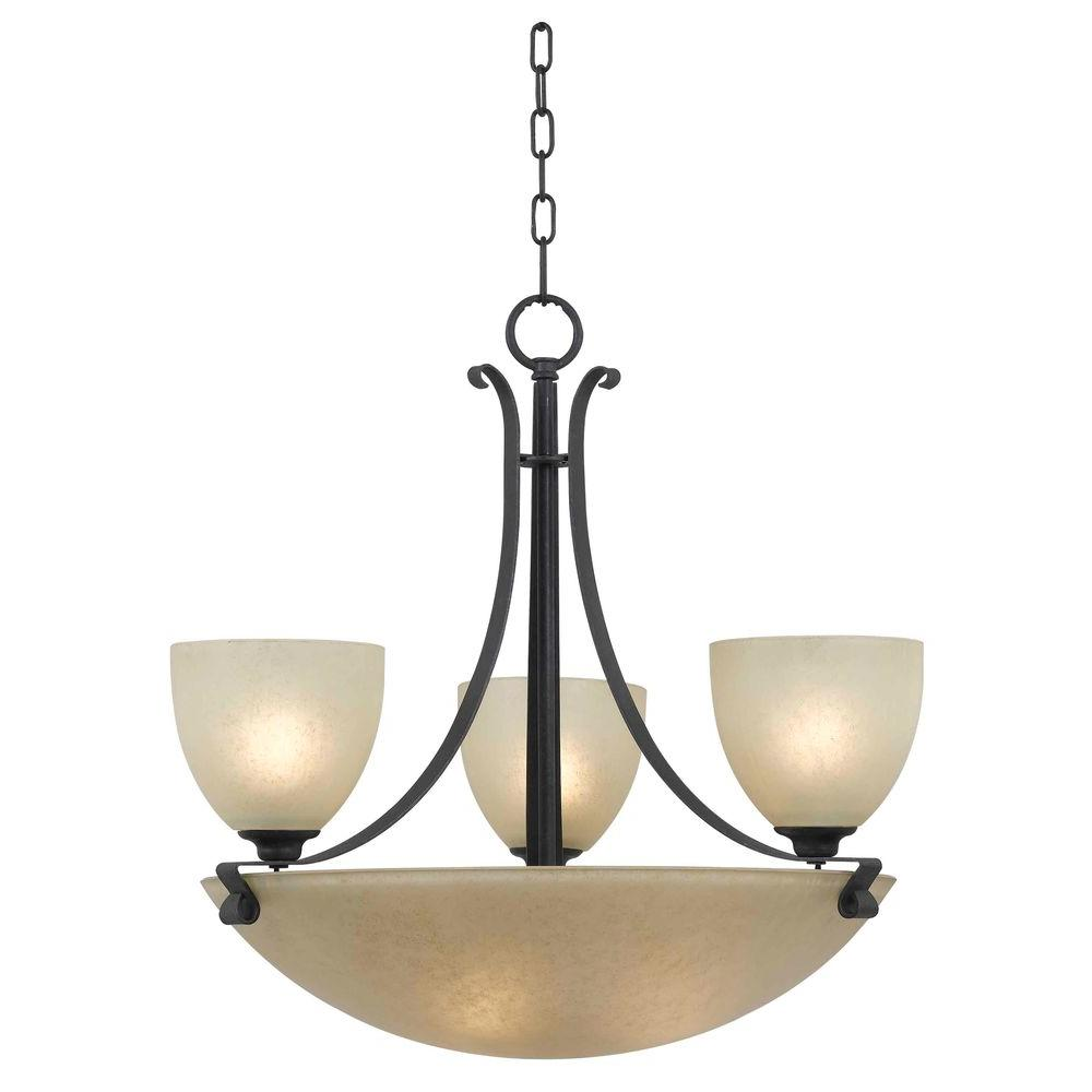 Kenroy Home Willoughby 6-Light Forged Graphite Chandelier