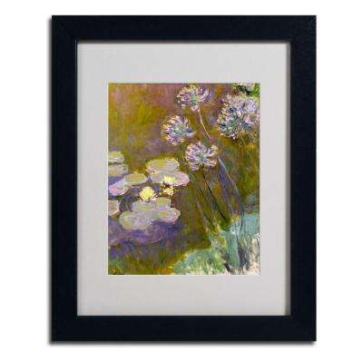 11 in. x 14 in. Waterlilies and Agapanthus Matted Black Framed Wall Art