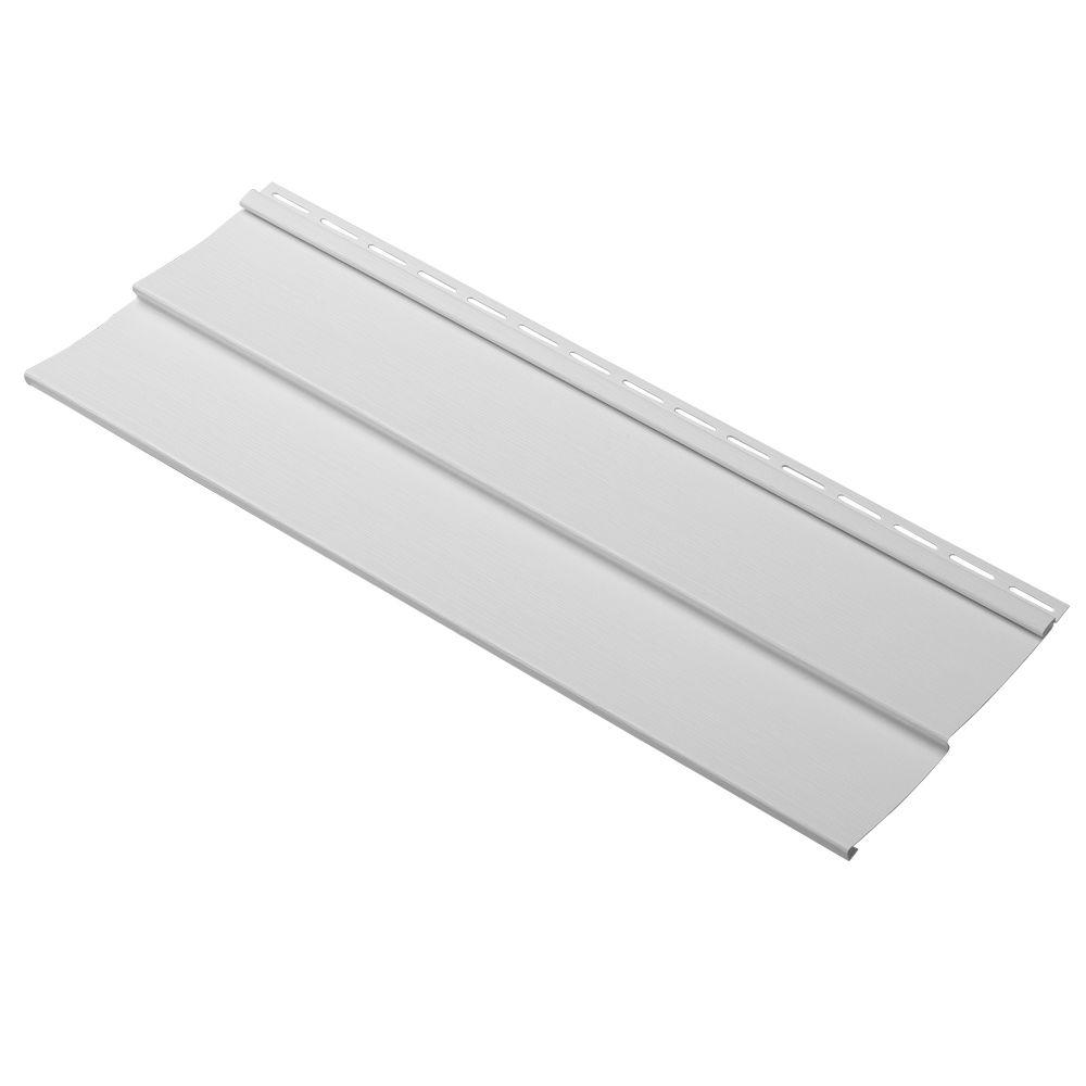 Cellwood Progressions Double 4 in. x 24 in. Vinyl Siding Sample in Stone Gray