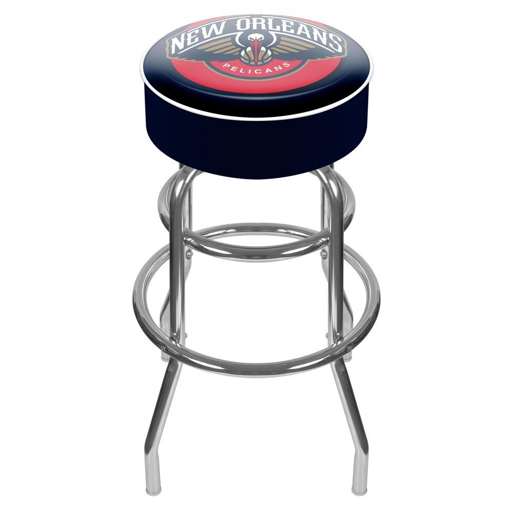 Trademark New Orleans Pelicans NBA 31 in. Chrome Padded Swivel Bar Stool