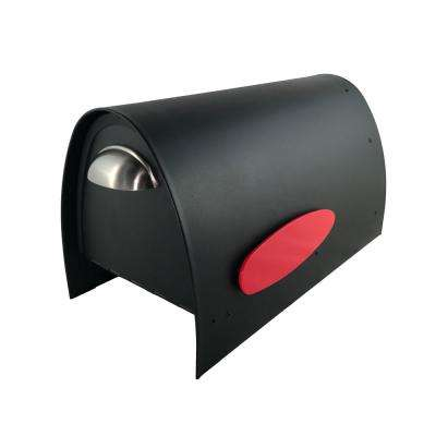 Spira Matte Black Powdercoated 316 Stainless Steel Post Mounted Non-Locking Mailbox