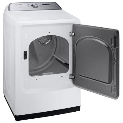 7.4 cu. ft. White Gas Dryer with Sensor Dry