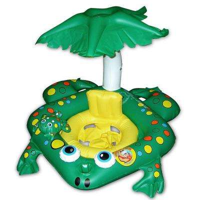 Frog Baby Seat Swimming Pool Float Rider with Top