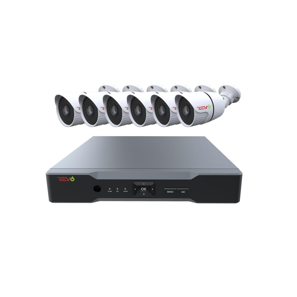 Revo Aero 8 Channel Hd 1tb Surveillance Dvr With 6 Indoor