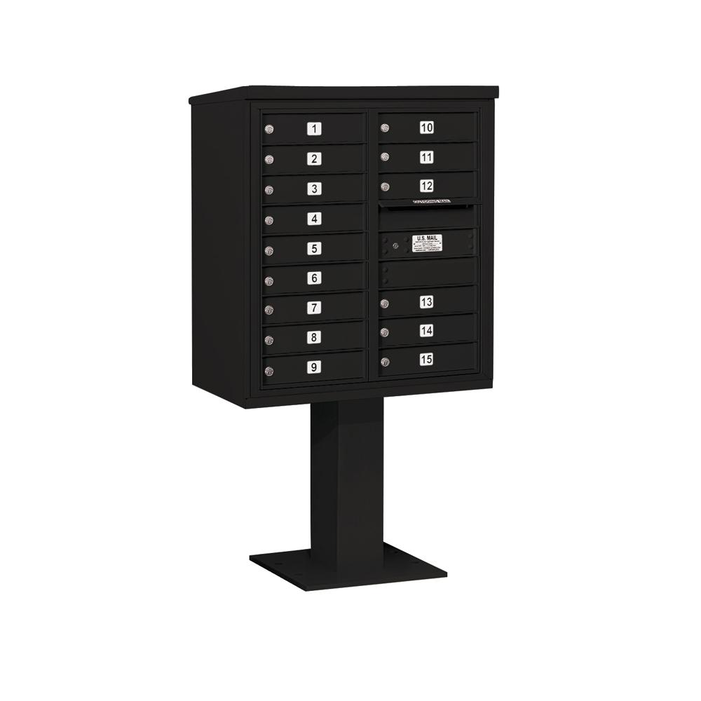 3400 Horizontal Series 15-Compartment Pedestal Mount Mailbox