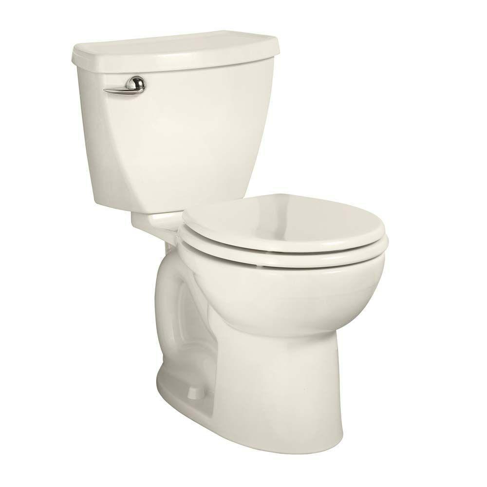 American Standard Cadet 3 Powerwash Tall Height 10 in. Rough 2-piece 1.6 GPF Single Flush Round Toilet in Linen